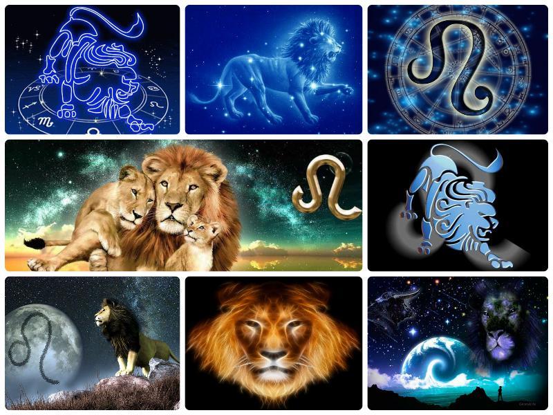 лого открытка по знакам зодиака льва природной красоты